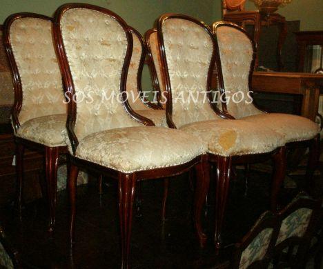 6 Cadeiras Vitorianas L:0,50 P:0,50 A:0,55