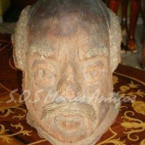Busto esculpido em Coco ACM A:0,20