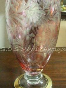 Vaso de Cristal Lapidado L:0,14 A:0,30