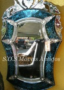 Espelho Veneziano Azul A:1,23 L:0,68