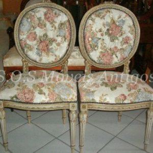 Par De Cadeiras Luís XVI