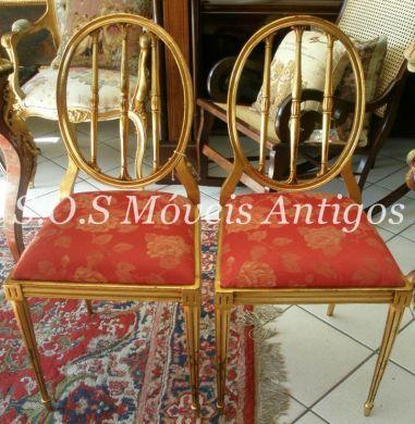 Par De Cadeiras Luís XVI Sec. XIX