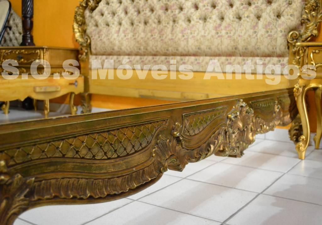 Cama luiz xv francesa em ouro brunido for Cama luis xv