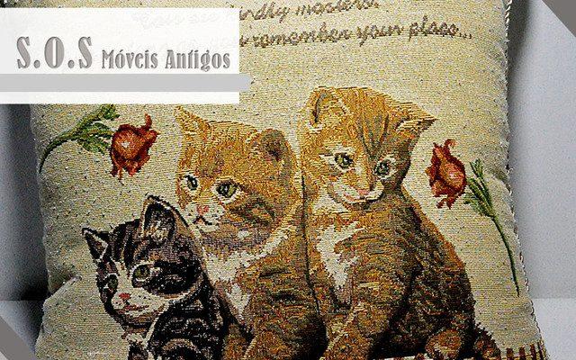 Almofada com Estampa de Gatos